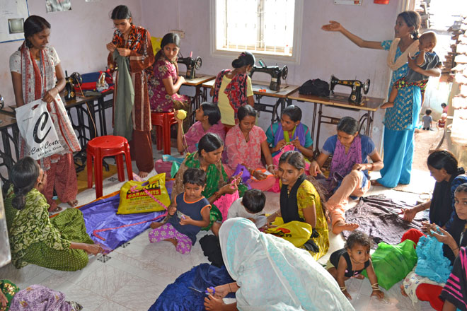 Improving life in India, with a sewing class
